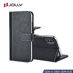 Funda cartera resistente al polvo para iPhone 8