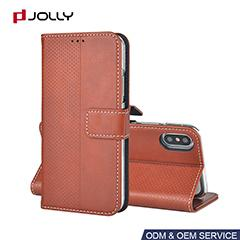 Funda cartera de PU para iPhone X